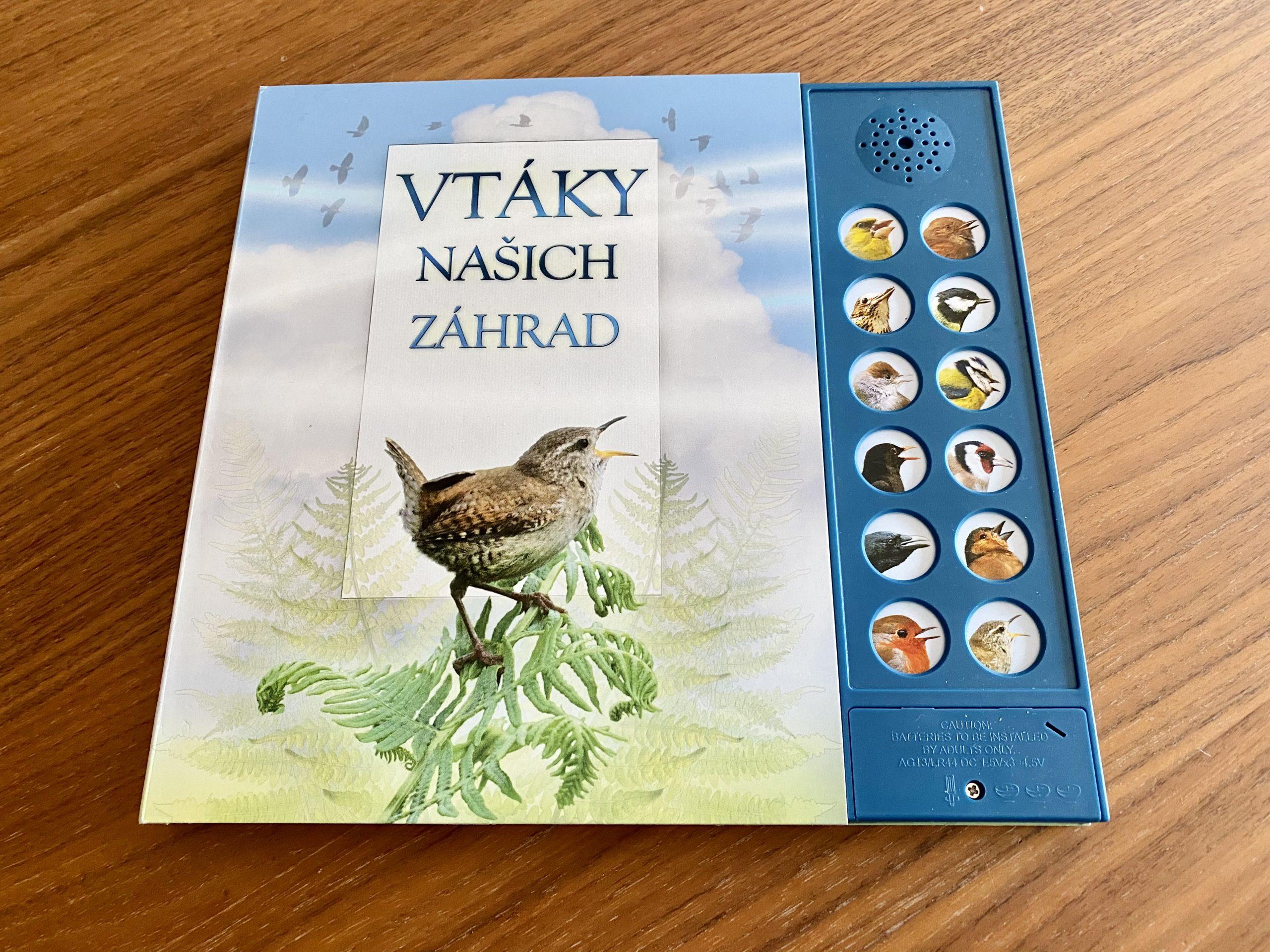 zvukova kniha Vtáky našich záhrad
